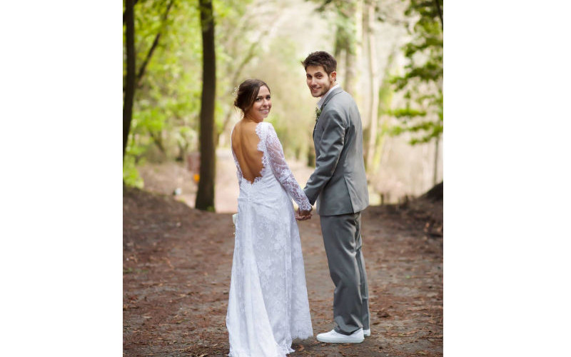 Beginning their life's journey together – Hannah and her husband
