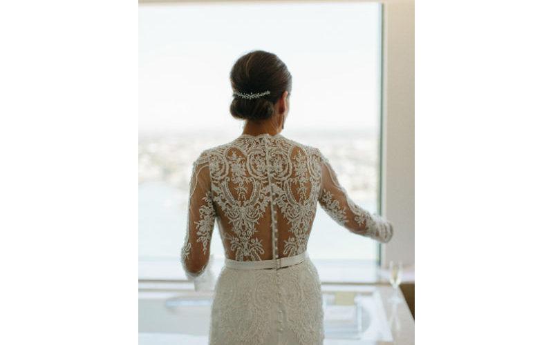 Tanya Back of Her Dress